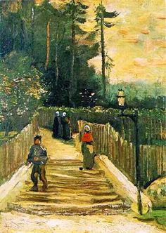 Sloping Path in Montmartre, 1886  Vincent van Gogh