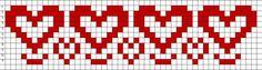 Free Bead Loom Patterns: Hearts Free Bead Loom Patterns: Hearts The post Free Bead Loom Patterns: Hearts appeared first on Weaving ideas. Cross Stitch Heart, Beaded Cross Stitch, Cross Stitch Borders, Cross Stitch Patterns, Cat Cross Stitches, Seed Bead Patterns, Peyote Patterns, Weaving Patterns, Embroidery Patterns