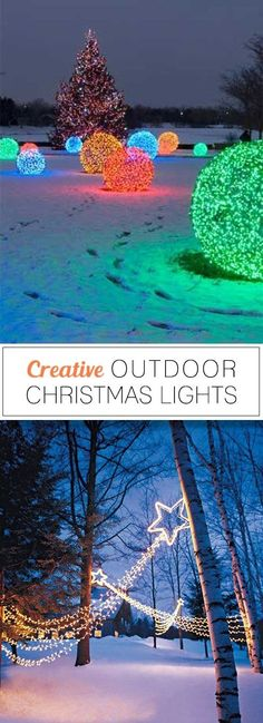 Creative Outdoor Christmas Lights • Lots of Great Ideas & Tutorials! by maricela