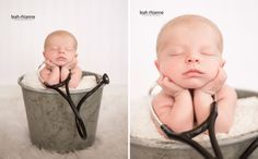 Baltimore newborn portraits by Leah Rhianne Photography. #doctor #stethoscope