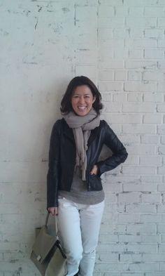 大草直子さんの大人のコーディネート 2016年ファッション 梨花 - NAVER まとめ Tokyo Street Style, Tokyo Streets, Cool Style, My Style, White Pants, Naver, Autumn Fashion, Stylists, Leather Jacket