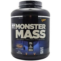 MONSTER MASS™ is the most powerful, yet easily digestible, mass-building protein in history. Although it tastes like an ultra-rich milk shake, MONSTER MASS's 600+ calorie advanced protein and carbohydrate systems make it the ultimate nutritional tool for building monster size and muscle. #bodybuilding #workout #lift