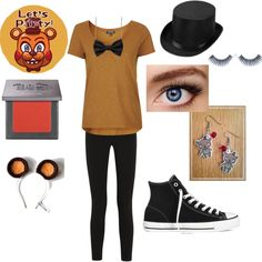 A fashion look from May 2015 featuring Topshop t-shirts, Topshop Unique pants and Converse sneakers. Browse and shop related looks. Fnaf Costume, Fnaf Cosplay, Casual Cosplay, Cosplay Outfits, Cosplay Ideas, Cosplay Costumes, Five Nights At Freddy's, Friday Nights, Fandom Outfits