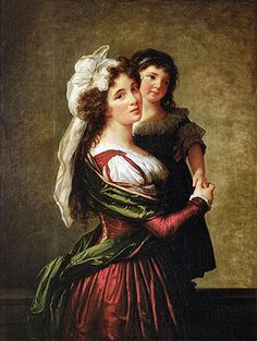 Elisabeth-Louise Vigee Le Brun | Madame Rousseau and her Daughter, 1789