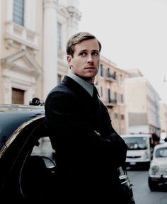 Armie Hammer as Illya Kuryakin in The Man from U.N.C.L.E (2015)--You found my weakness, tough Russian men