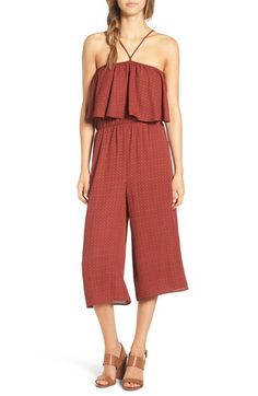 Everly Ruffle Print Wide Leg Jumpsuit available at #Nordstrom