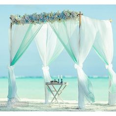 A Caribbean delight - a color palette to match the aqua blue oceans with…