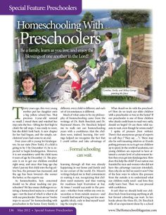 The Old Schoolhouse Magazine - May 2012 - Page 136-137 Homeschooling with Preschoolers