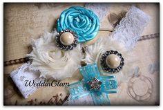wedding garter / tiffany blue garter / bridal garter/ lace garter / victorian weddding / Something BLue / vintage inspired lace garter/