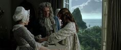 Elizabeth receives a gift from her father.