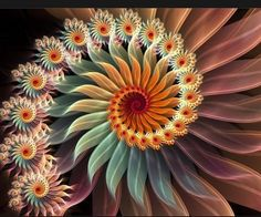 Permaculture color fractal - Another! September Horoscope, Art Antique, Patterns In Nature, Gerbera, Fractal Art, Fractal Images, Permaculture, Sacred Geometry, Geometry Art