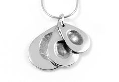 Image result for triple fingerprint necklace