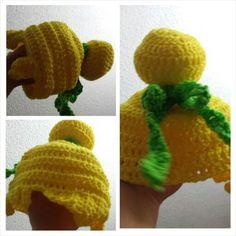 Tinkerbell crochet wig/beanie