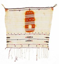 Africa | Berber veil from Morocco | ca. 1st half of the 20th century | Wool and cotton