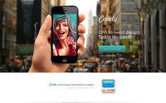 30 Mobile App Landing Page Templates - DesignM. Best Landing Pages, App Landing Page, Page Template, Templates, Wordpress Landing Page, Ui Web, Web Design Inspiration, Interactive Design, App Design