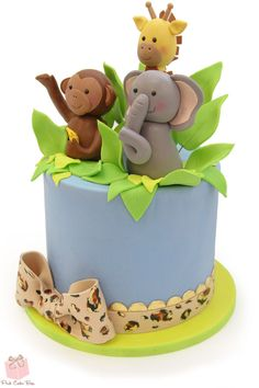 click to enlarge niaus first birthday jungle cake cake yummm pinterest birthdays cakes and jungles