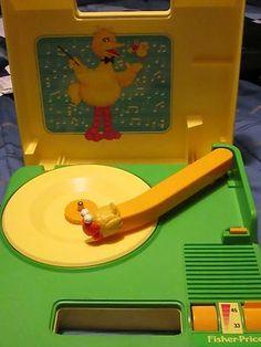1983 Fisher Price Sesame Street Big Bird Portable Record Player