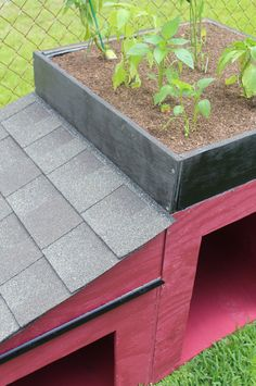 Easy Roofing On My Dog House With GAF Timberline Shingles | Dog Houses,  Raised Bed And Outdoor Gardens