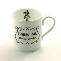Alice Mug Drink Me Alice Quote Tea Coffee Mug Lewis