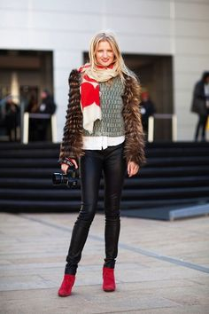 Scarf Style: 21 Ways To Wear It. I just plain ol like these outfits too