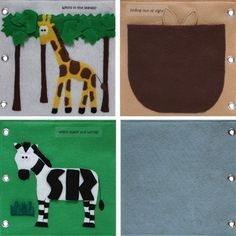 To the Zoo ePattern for a Toddler's Quiet Book by CopyCrafts