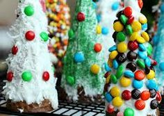 cone trees for gingerbread house