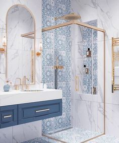 Home is the safe place you feel, and the bathroom can relax you. If you don't feel relaxed at home, it must be a problem with the bathroom design. interior Dream bathroom decor ideas get yours – Bad Inspiration, Bathroom Inspiration, Home Decor Inspiration, Decor Ideas, Cool Bathroom Ideas, Bathroom Inspo, Decorating Ideas, Dream Bathrooms, Beautiful Bathrooms