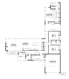Modern Style House Plan - 3 Beds 2.5 Baths 2498 Sq/Ft Plan #48-561 Floor Plan - Main Floor Plan - Houseplans.com