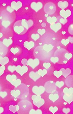 Pink And White Hearts Bokeh Wallpaper I Created For The App CocoPPa
