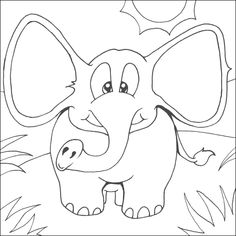 Baby Elephant Animals Coloring Pages Pictures Is One Animal That Had A Great Body Big Ears And Long Prob