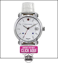 Chrono Diamond 82136_silber-35 mm - Reloj , correa de cuero color blanco  ✿ Relojes para mujer - (Lujo) ✿ ▬► Ver oferta: https://comprar.io/goto/B00KW429QW