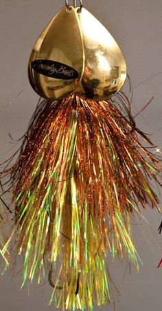 Tinsel Bucktail Color Combos - Perch - Yellow / Copper / Light Green