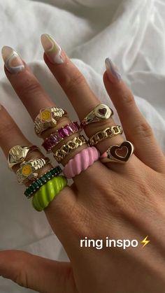 Nail Jewelry, Funky Jewelry, Stylish Jewelry, Cute Jewelry, Jewelry Accessories, Fashion Jewelry, Jewlery, Hippie Accessories, Luxury Jewelry