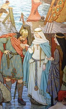 St. Margaret of Scotland meeting her future husband Malcolm - June 10