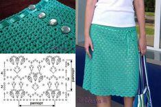 Aqua crohcet skirt