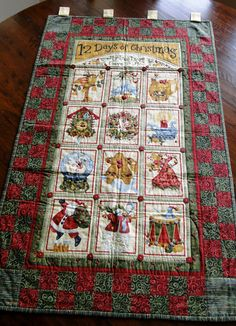 12 Days of Christmas Wall Hanging by thebeadedpillow on Etsy, $75.00
