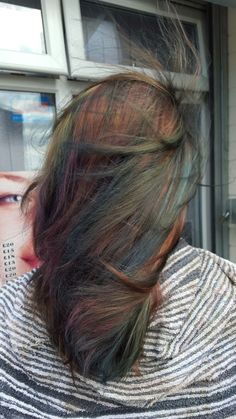 Had my hair done today. Multicoloured happiness.
