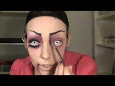 Evil Doll Halloween makeup
