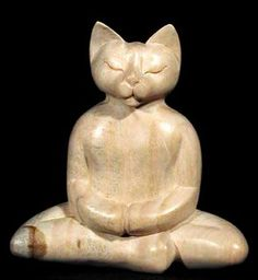 """I put down my book, The Meaning of Zen, and see the cat smiling into her fur as she delicately combs it with her rough pink tongue. """"Cat, I would lend you this book to study but it appears you have already read it."""" She looks up and gives me her full gaze. """"Don't be ridiculous,"""" she purrs, """"I wrote it.""""    ~Dilys Laing, """"Miao"""""""
