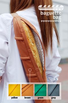 Strolling the streets of Paris, off to get your bottle of wine and some cheese? Why not carry a fresh baguette in this stylish sensation.