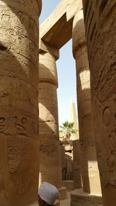 The great temple of Rames II, Luxor, Egypt