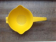 A personal favorite from my Etsy shop https://www.etsy.com/listing/276674118/vintage-tupperware-colander-vintage