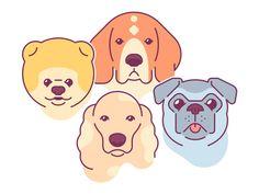 Lina Bo   Dribbble Web Design Tips, Dog Design, Pug, Dog Illustration, Illustrations, Diy Dog Bed, Sketch Inspiration, Design Inspiration, Dog Paws