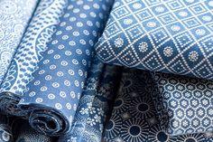 indigo fabrics Textiles, Textile Patterns, Textile Prints, Print Patterns, Indigo Prints, Blue And White Fabric, Blue Fabric, Azul Anil, Mood Indigo