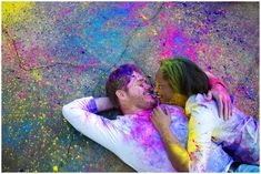 color chalk fight engagement session Kellie + Collier | Engaged » elle Danielle