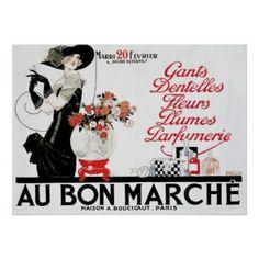 Vintage Paris Perfume ~ Au Bon Marche Label