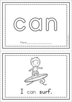 Students trace the sight word in focus on each page. Preschool Sight Words, Teaching Sight Words, Sight Word Activities, Preschool Activities, Kindergarten Language Arts, Kindergarten Literacy, Early Literacy, Pre Primer Sight Words, Site Words