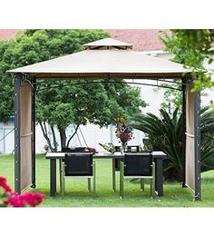 abba patio 10 x 10 ft outdoor art steel frame backyard party tent vented shelter patio - Abba Patio