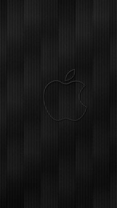 640x1136 Wallpaper apple, mac, logo, brand, contour, dark