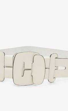 Diane von Furstenberg White Belt